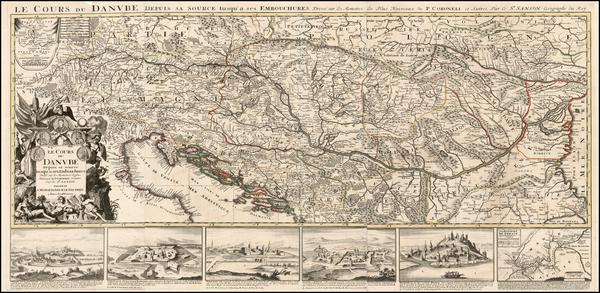 34-Germany, Poland, Ukraine, Hungary, Romania, Balkans and Italy Map By Alexis-Hubert Jaillot