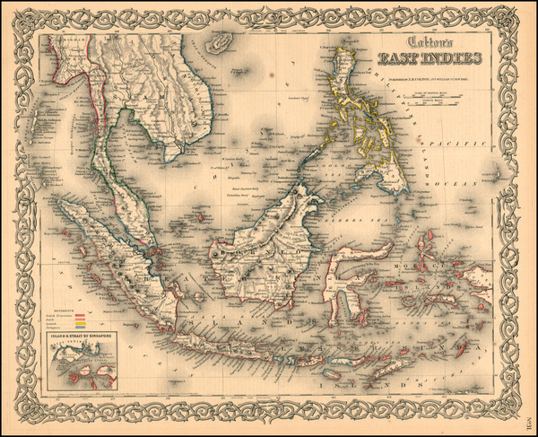 84-Asia, Southeast Asia, Australia & Oceania and Other Pacific Islands Map By G.W.  & C.B.