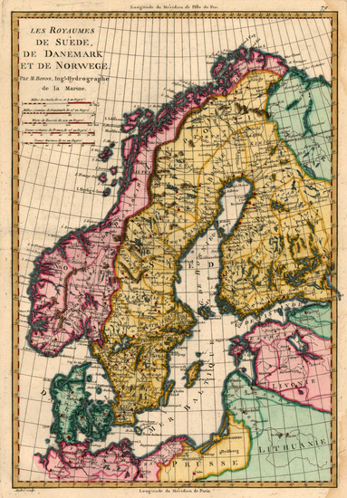 44-Europe, Baltic Countries and Scandinavia Map By Rigobert Bonne