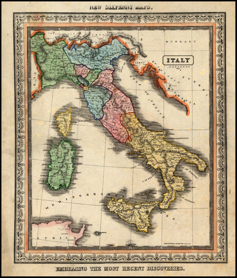 45-Italy Map By B.F. Lloyd