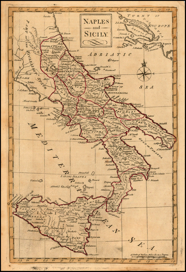 43-Italy and Balearic Islands Map By Carrington Bowles
