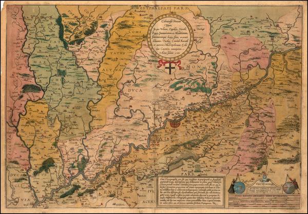 81-Germany Map By Frans Hogenberg / Cornelio  Adgero