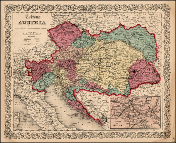 64-Europe, Austria, Hungary, Czech Republic & Slovakia and Balkans Map By Joseph Hutchins Colt