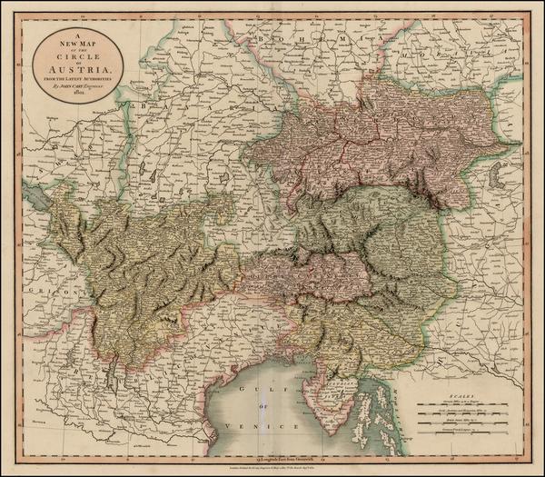 60-Austria Map By John Cary