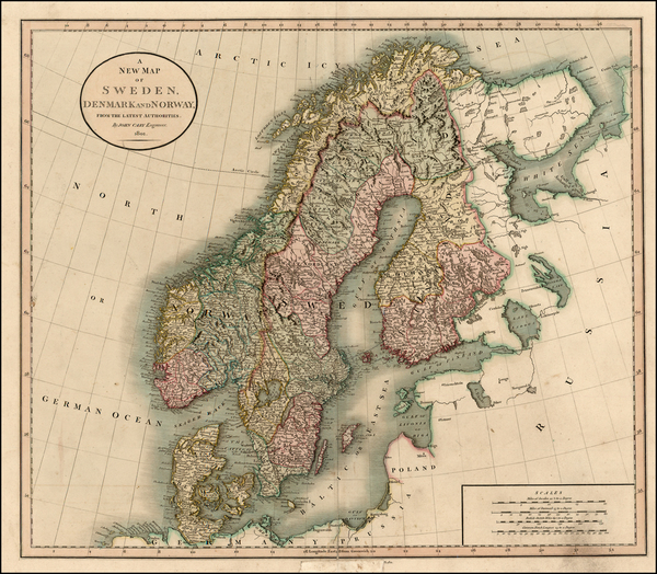 29-Scandinavia Map By John Cary