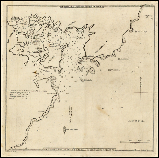 34-New England and New Hampshire Map By Edmund M. Blunt