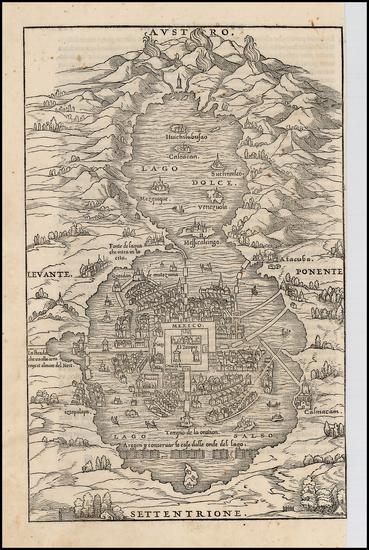 1-Mexico Map By Giovanni Battista Ramusio