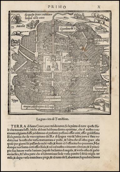 63-Mexico Map By Benedetto Bordone