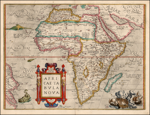 37-Africa and Africa Map By Abraham Ortelius