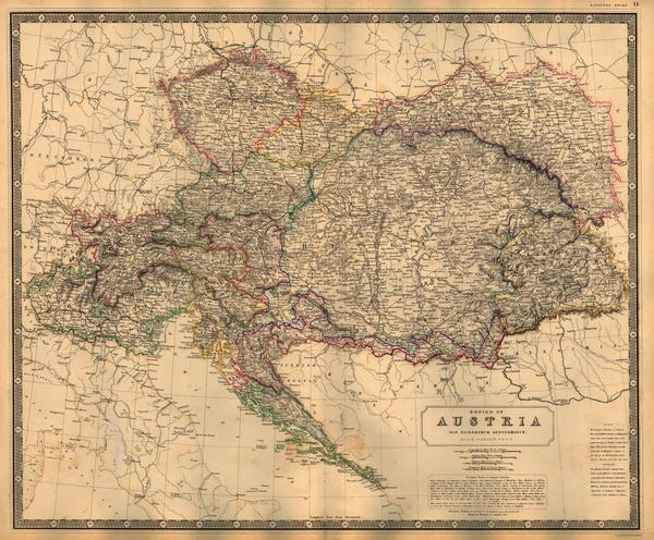 85-Austria, Poland, Hungary, Czech Republic & Slovakia and Balkans Map By W. & A.K. Johnst