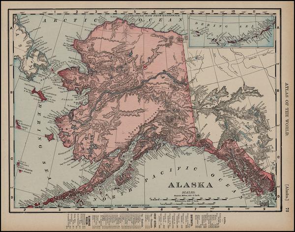 19-Alaska Map By Rand McNally & Company