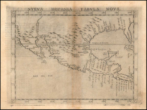 37-South, Southeast, Texas, Southwest, Rocky Mountains, Mexico and Baja California Map By Girolamo