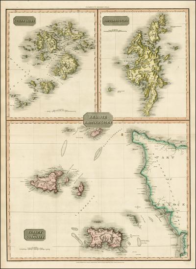 19-British Isles and British Counties Map By John Pinkerton