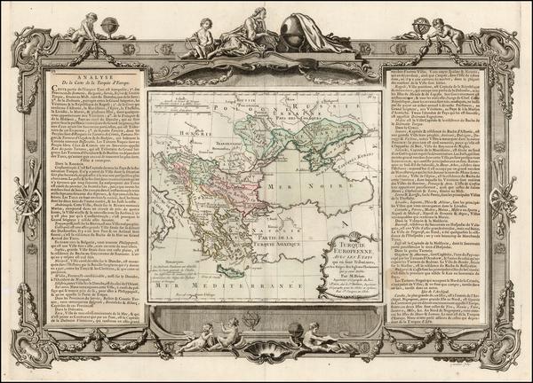 82-Europe, Russia, Ukraine, Balkans, Greece and Turkey Map By Louis Brion de la Tour
