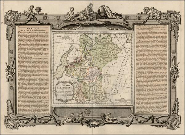 90-Europe, Russia and Ukraine Map By Louis Brion de la Tour