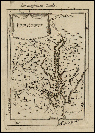 77-Mid-Atlantic and Southeast Map By Alain Manesson Mallet