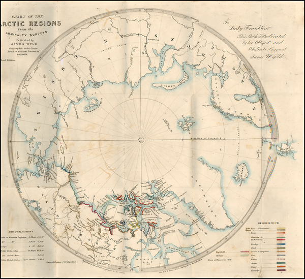 90-Polar Maps, Alaska, Canada, Russia, Scandinavia and Russia in Asia Map By James Wyld