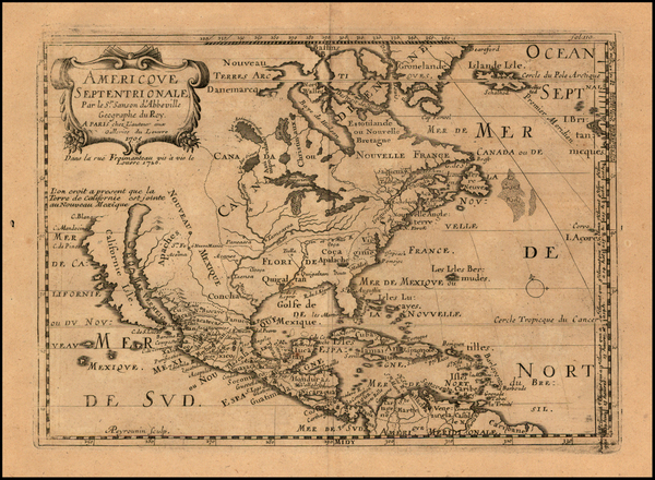 2-Texas, Midwest, Plains, Southwest, North America and California Map By Pierre Moullart Sanson