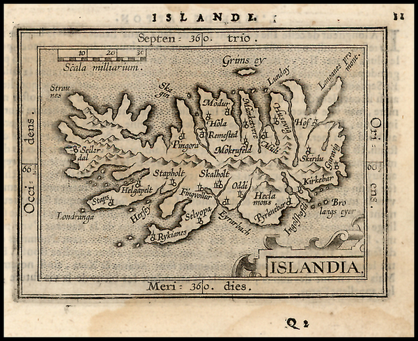49-World, Atlantic Ocean, Europe and Iceland Map By Abraham Ortelius