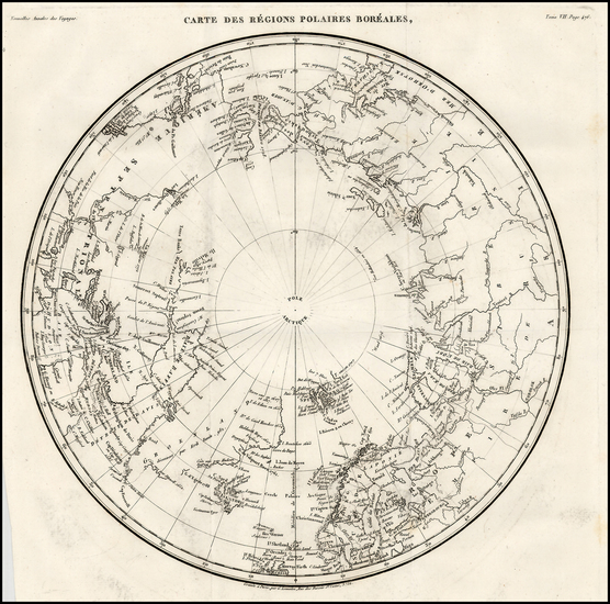 18-Polar Maps, Alaska, Scandinavia and Russia in Asia Map By G Lemaitre