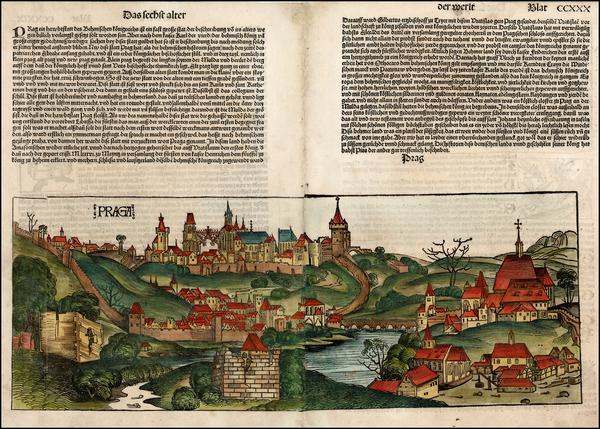 64-Czech Republic & Slovakia Map By Hartmann Schedel