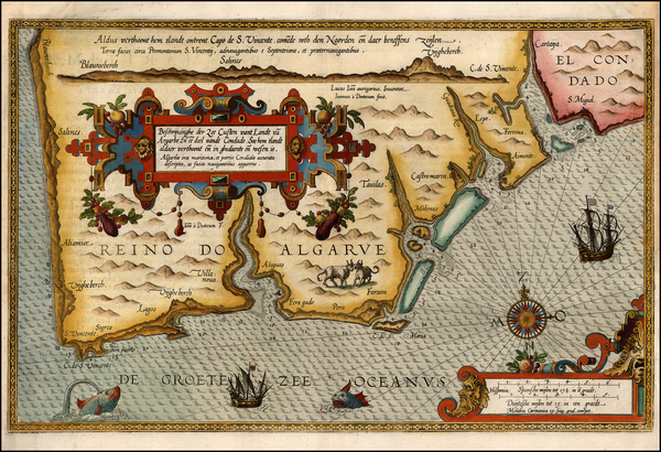 7-Spain and Portugal Map By Lucas Janszoon Waghenaer