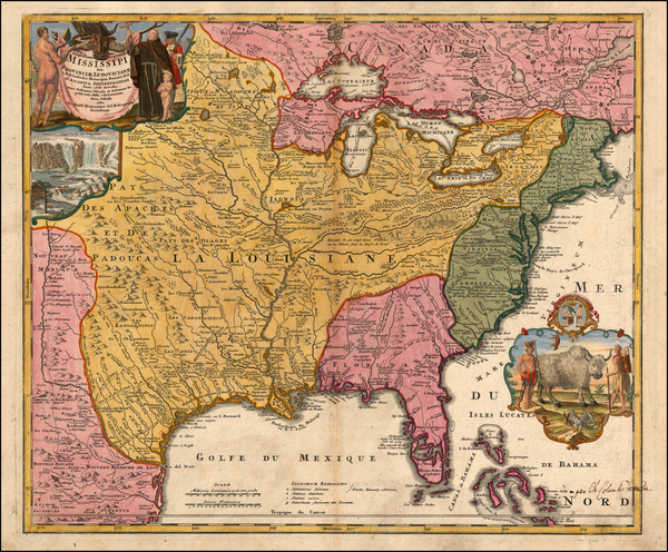 76-United States, South, Midwest and Plains Map By Johann Baptist Homann
