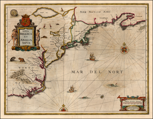 64-New England, Mid-Atlantic and Southeast Map By Jan Jansson