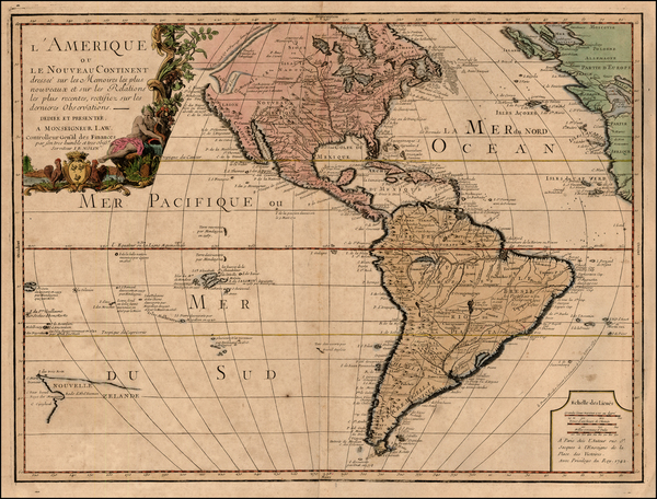 84-South America, Australia & Oceania, Oceania, New Zealand and America Map By Jean-Baptiste N