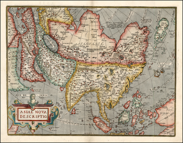 79-Asia, Asia, Australia & Oceania and Oceania Map By Abraham Ortelius