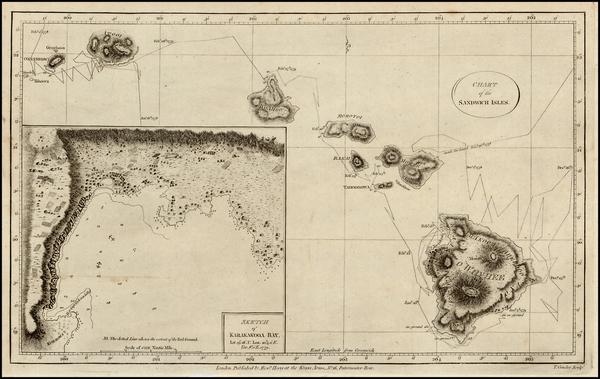 21-Hawaii, Australia & Oceania and Hawaii Map By James Cook