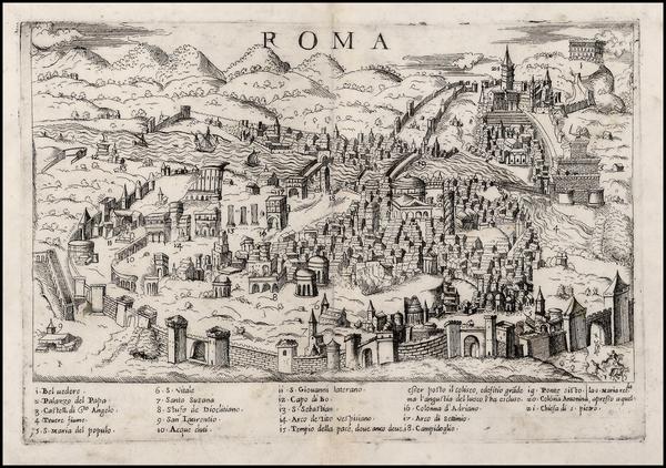 42-Italy Map By Bolognini Zaltieri / Giulio Ballino