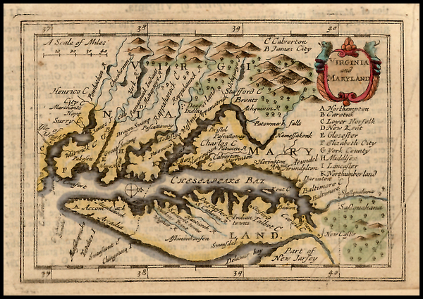 92-Mid-Atlantic and Southeast Map By John Speed