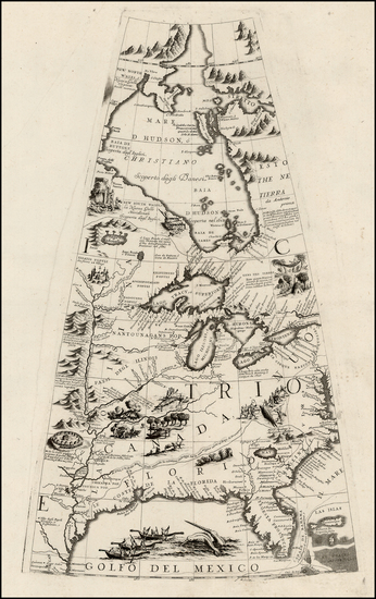 12-Mid-Atlantic, South, Southeast, Texas, Midwest, Plains and Canada Map By Vincenzo Maria Coronel