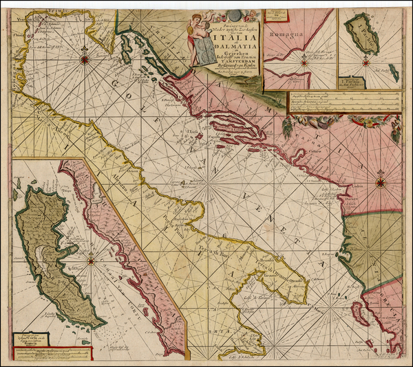 Balkans, Italy and Greece Map By Johannes Van Keulen