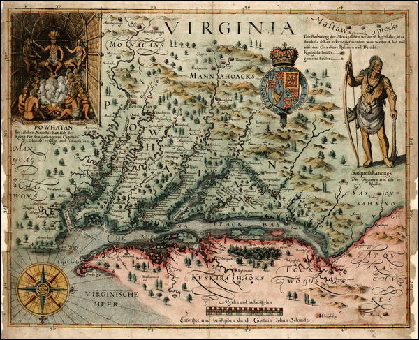 99-Mid-Atlantic, South and Southeast Map By John Smith