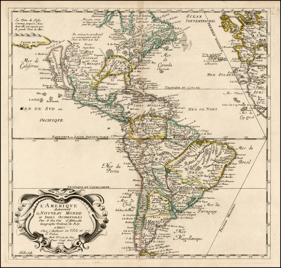 57-South America and America Map By Pierre Du Val