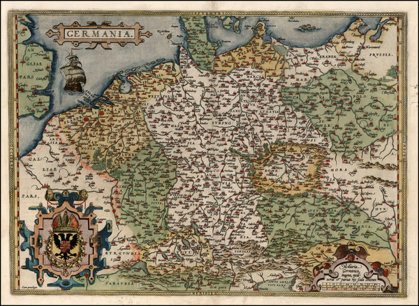 95-Europe, Netherlands, Germany, Poland and Baltic Countries Map By Abraham Ortelius