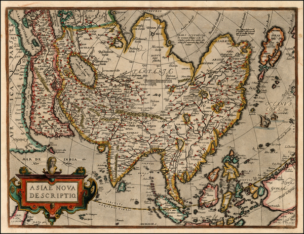 22-Asia, Asia, Australia & Oceania and Oceania Map By Abraham Ortelius