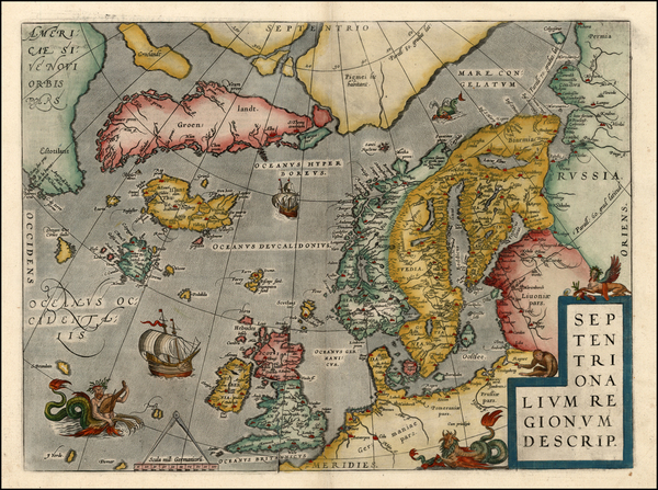 11-World, Atlantic Ocean, Europe, British Isles, Scandinavia and Balearic Islands Map By Abraham O