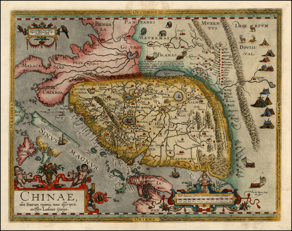 66-China, Japan, Southeast Asia and Philippines Map By Abraham Ortelius