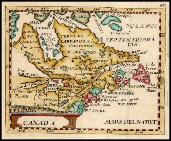 43-New England, Midwest and Canada Map By Pierre Du Val - Johann Hoffmann