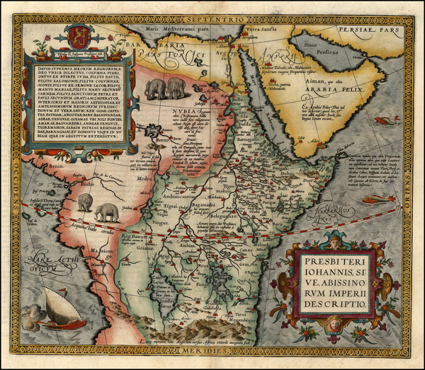 75-Africa, Africa, North Africa, East Africa and West Africa Map By Abraham Ortelius