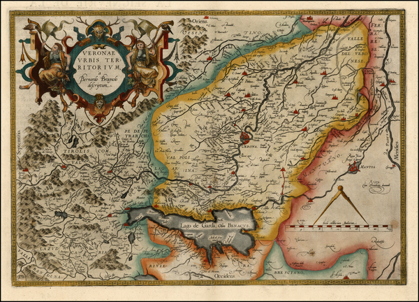 71-Europe and Italy Map By Abraham Ortelius