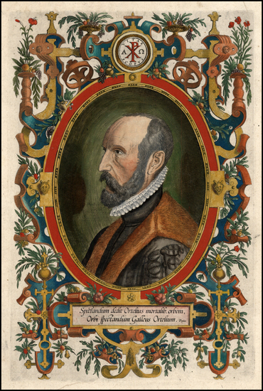 44-Portraits & People Map By Abraham Ortelius