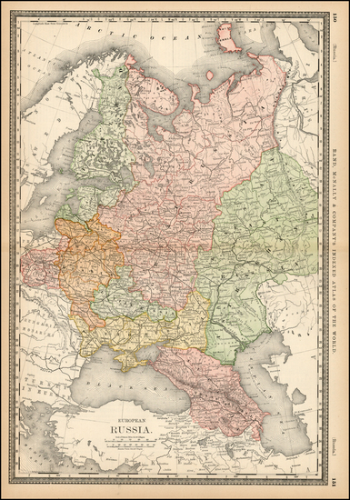 68-Europe, Russia and Ukraine Map By Rand McNally & Company