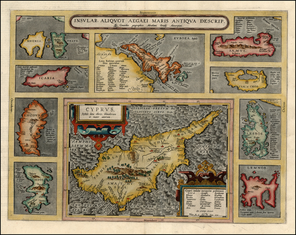 72-Europe, Italy, Greece and Balearic Islands Map By Abraham Ortelius
