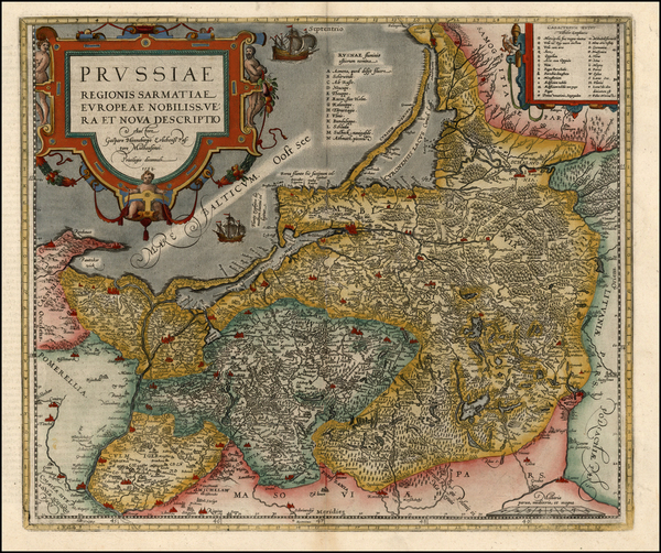 37-Germany, Poland and Baltic Countries Map By Abraham Ortelius