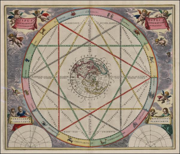 61-World, Northern Hemisphere, Polar Maps, North America, Curiosities, California and Celestial Ma