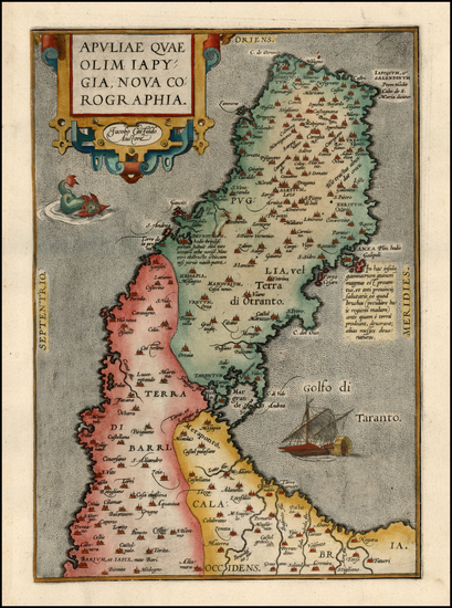 63-Europe and Italy Map By Abraham Ortelius